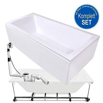 Beliebt AQUADE Badewanne Komplett-Set inkl. Untergestell, Ab-Überlauf und OU11