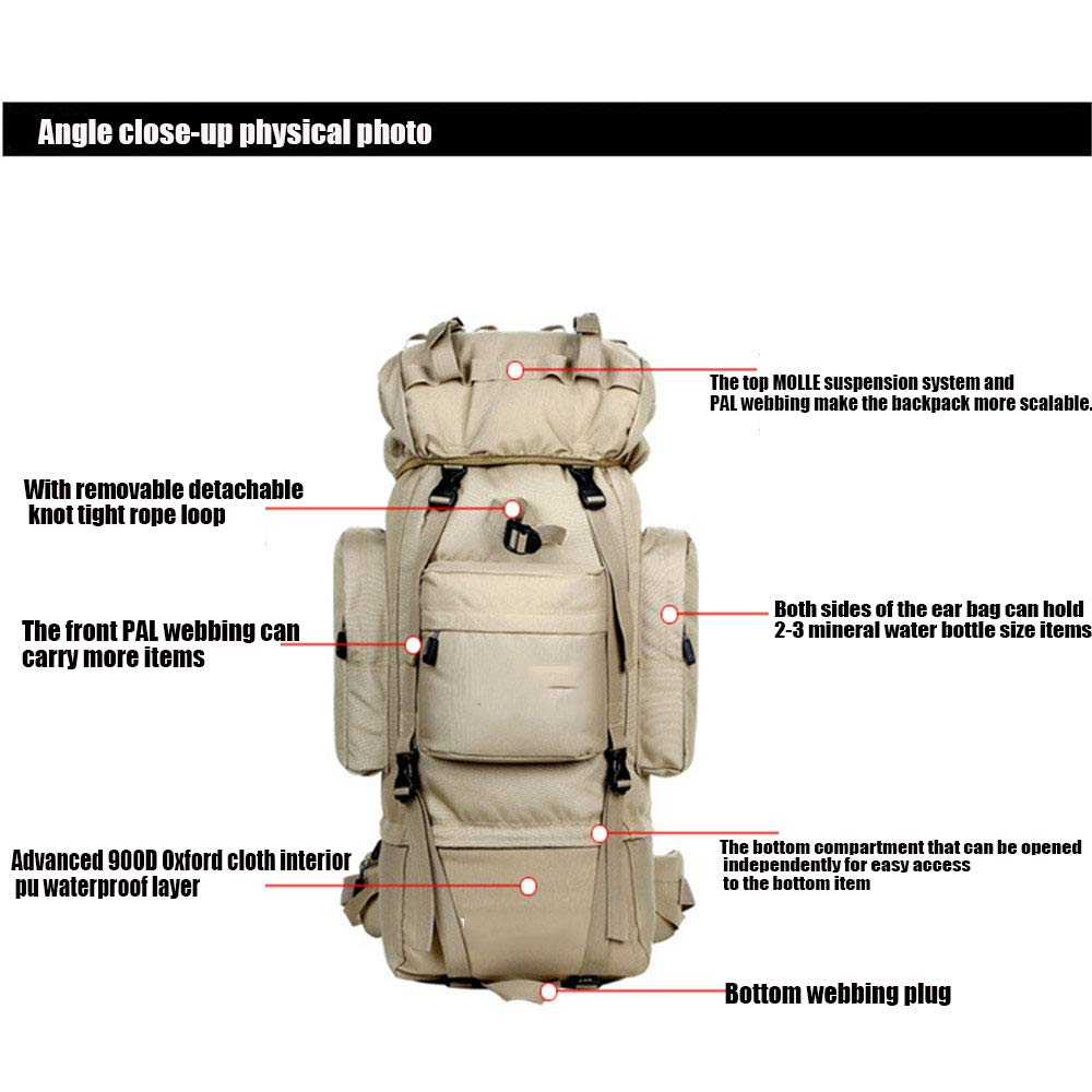 Outdoor Taktische Militärrucksack Große Jagd Wasserdichte Assault Pack Pack Pack 70-85L Multifunktions-trekkingrucksack für Camping Wandern B07LH2Q3MG Trekkingruckscke Geschwindigkeitsrückerstattung e73f3b