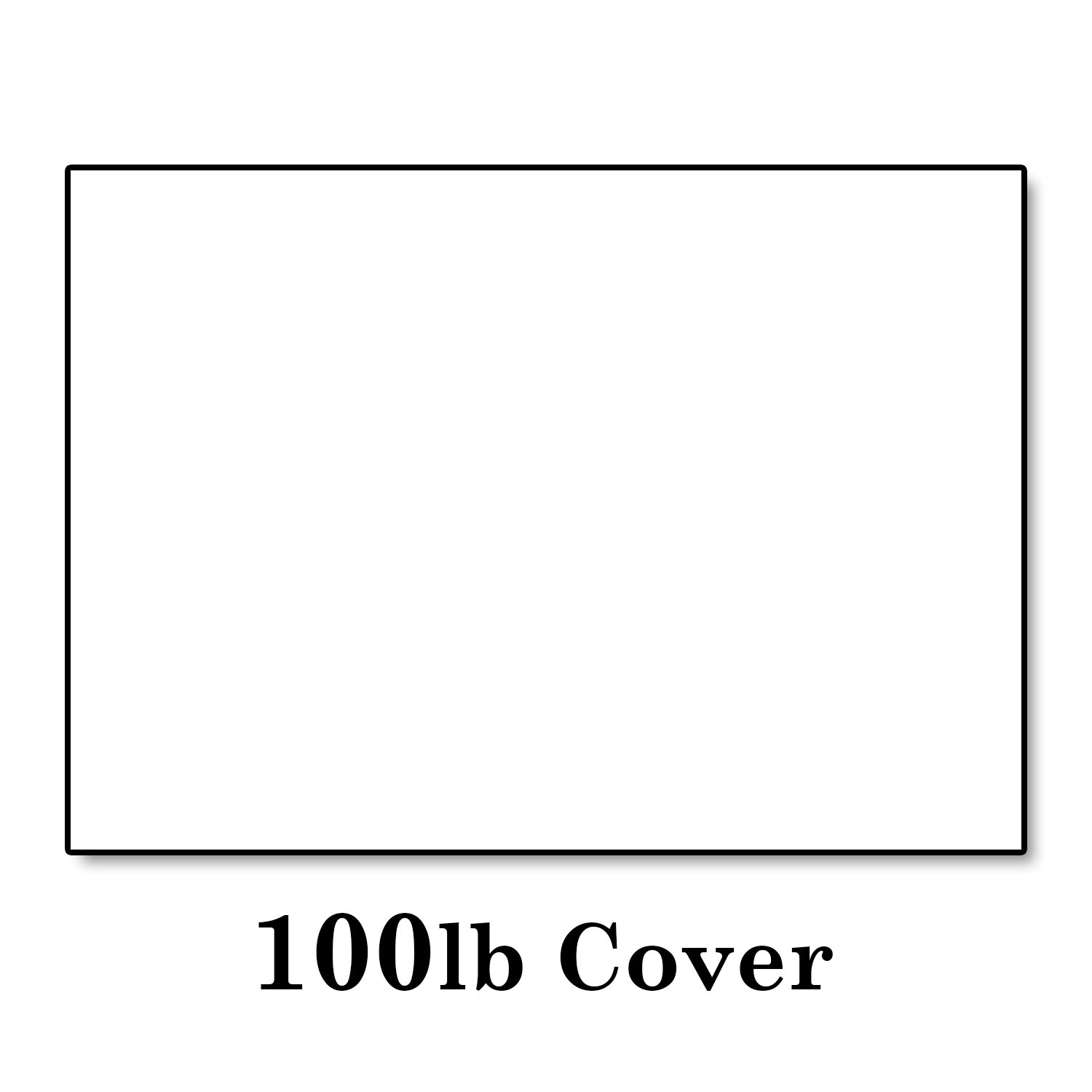 Hamilco White Cardstock Thick Paper 5 X 7 Blank Folded Cards With