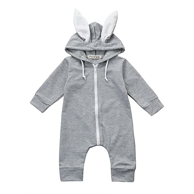 Toddler Baby Girls Boys Easter Bunny Bodysuit Jumpsuit Rabbit Romper Outfits UK