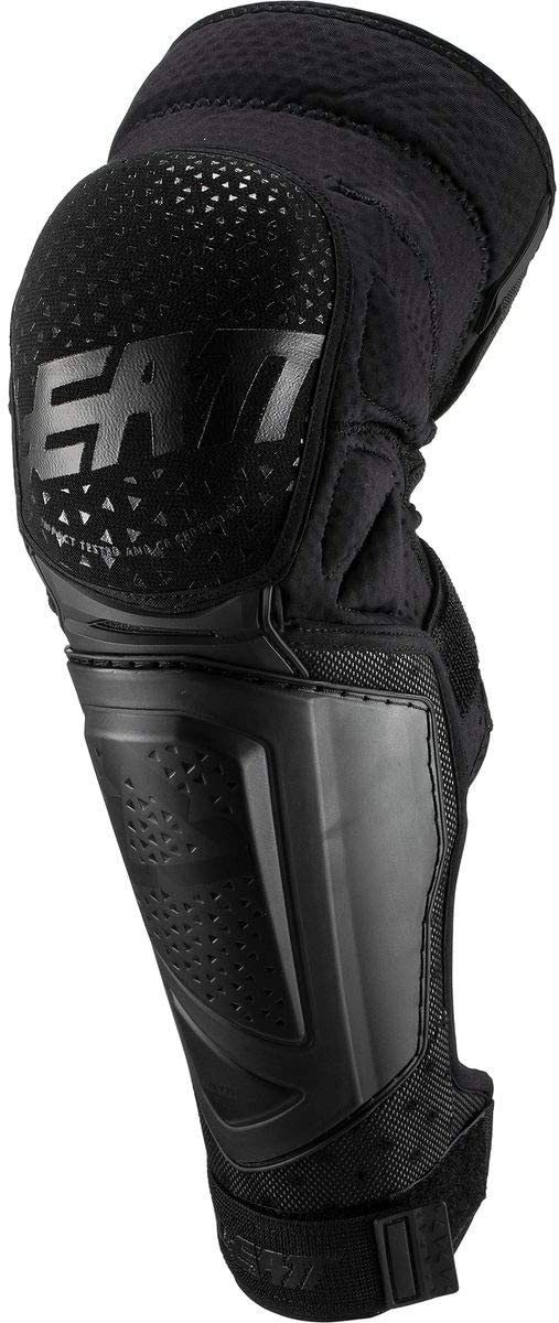 Leatt 3DF Hybrid Ext Adult MTB Cycling Knee & Shin Guard - Black/Large/X-Large