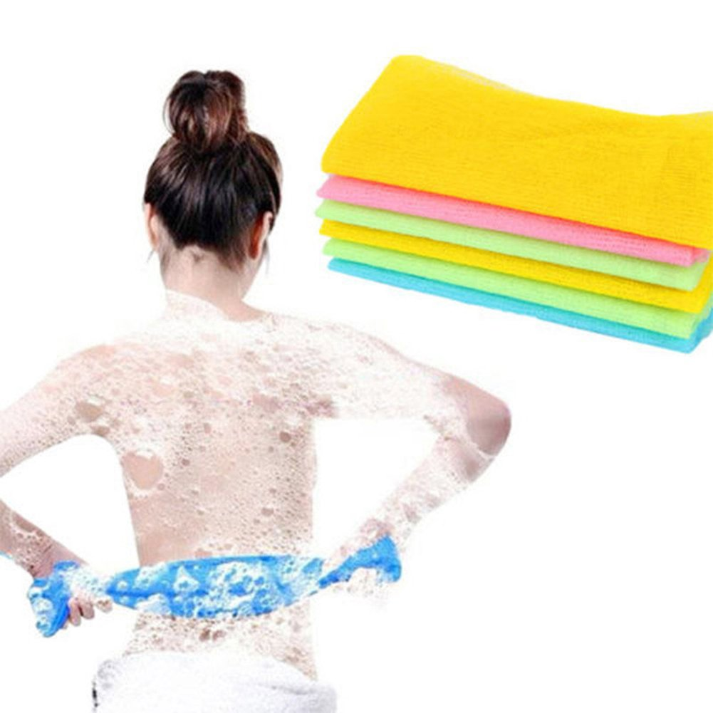 Exfoliating Nylon Bath Towels Shower Body Skin Cleaning Washcloths Scrubbing Cloth Towel BaoST