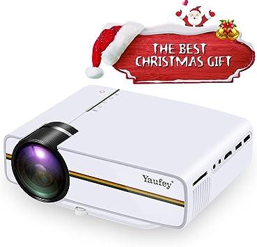 yaufey Mini LED Proyector Multimedia Home Cinema Soporte PC ...