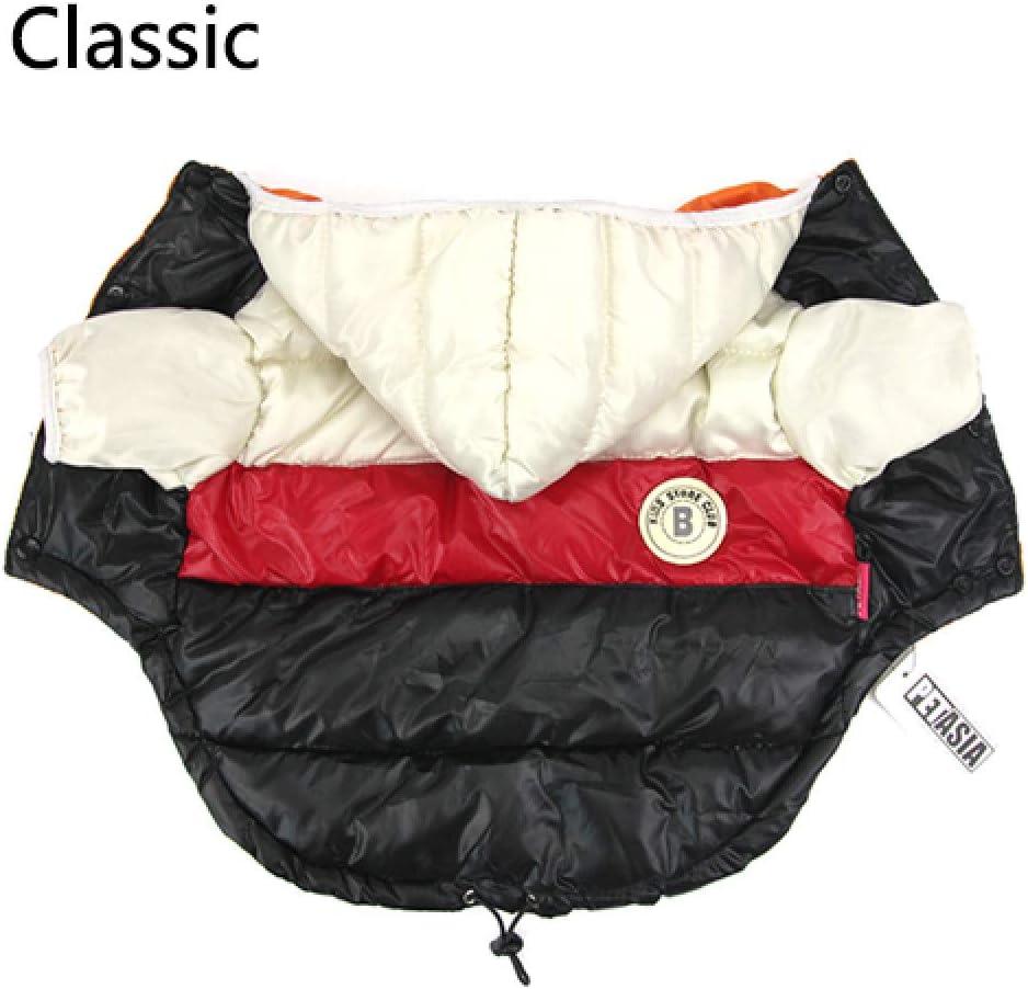 PAWZ Road Inverno Caldo Cappotto per Cani A Prova di Vento Giacca Aeronautica USA Felpa Cappuccio Cucciolo di Vestiti 4 Gambe Snowsuit Cagnolino Abbigliamento Costume Blu 4XL