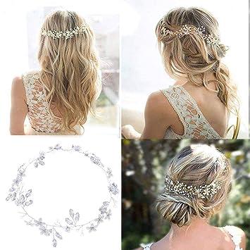 Simsly FS-194 – Haarschmuck in Rankenform mit Kristall-Blumendesign,  perfekt als Brautschmuck: Amazon.de: Beauty