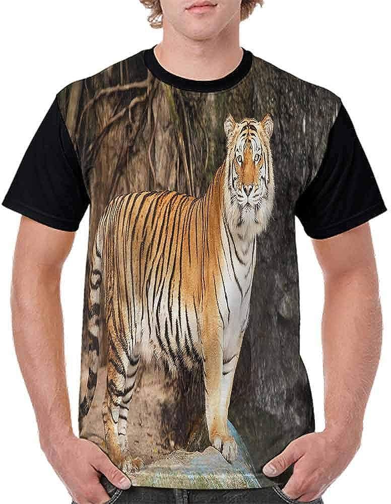 Performance T-Shirt,Alert Angry Royal Feline Fashion Personality Customization