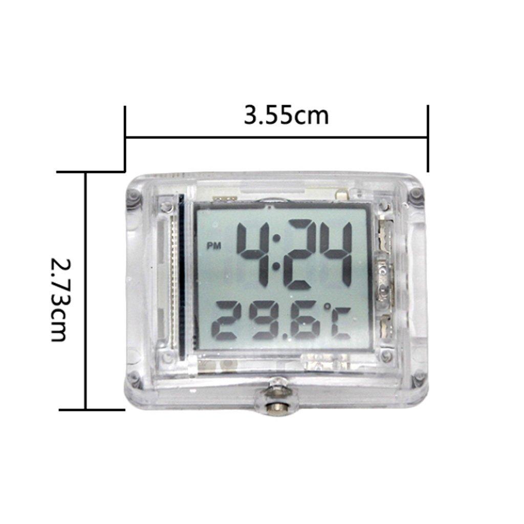 perfeclan Orologio da Motociclista Impermeabile Visualizzazione Facil del Tempo con Sistema 12 Ore 3,55 cm x 2,73 cm