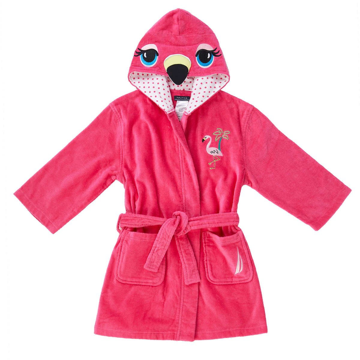 Nautica Girls Youth Beach Cover-Up (L (10/12) Pink Flamingo)