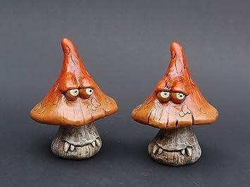 Lustige 2er Set Pilz Figuren Für Haus Und Garten Amazonde Küche