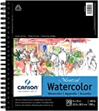 CANSON Artist Series Montval Watercolor Paper Pad, Heavyweight Cold Press and Micro-Perforated, Side Wire Bound, 140…