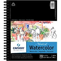 "CANSON Artist Series Montval Watercolor Paper Pad, Heavyweight Cold Press and Micro-Perforated, Side Wire Bound, 140 Pound, 9 x 12 Inch, 20 Sheets, 9""x12"""