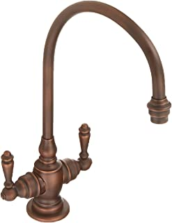 product image for Waterstone 1500-AMB Hampton Double Lever Handles Bar Faucet, Distressed American Bronze