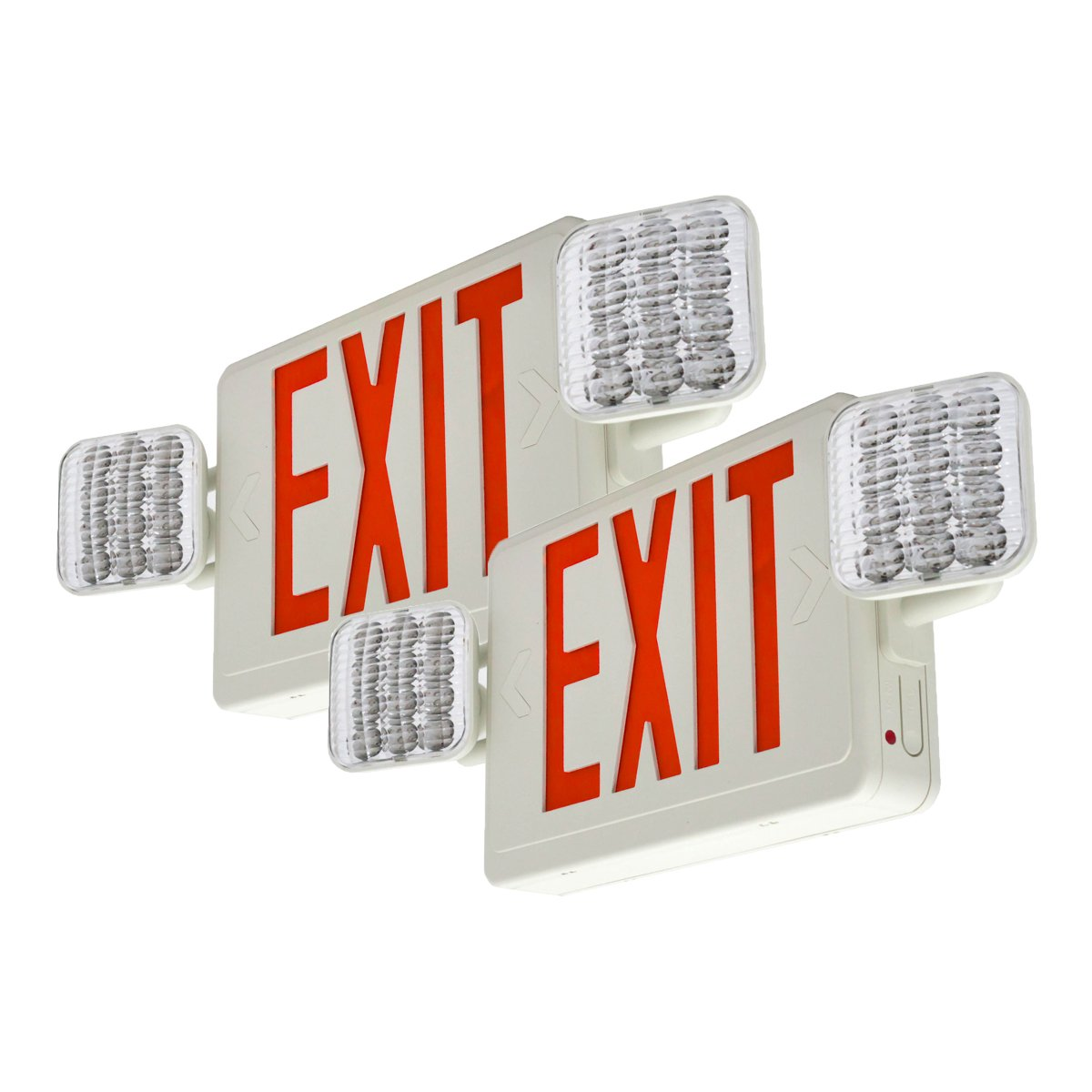 Lfi Lights 2 Pack Ul Certified Hardwired Red Led Combo Exit Emergency Lighting 6 Best Images Of Wiring Sign Light Combor2x2