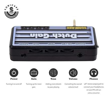 SONICAKE Guitar Head Auricular Amplificador Dutch Gain w / h Efectos de coro y reverberación: Amazon.es: Instrumentos musicales