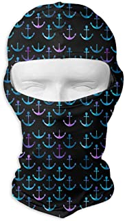 deyhfef Rainbow Boat Anchor Balaclava UV Protection Windproof Ski Face Masks Cycling Outdoor Sports Full Face Mask Breathable