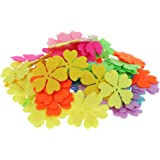 Perfk クラフト用品 装飾的なパッチ 不織布 アップリケ 花の形 フェルト 工芸品 約100個入り 全7種類 - 種類3