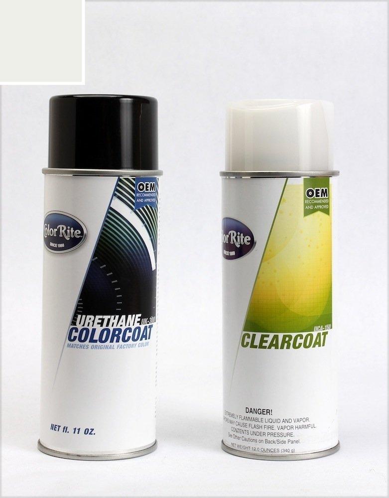 ColorRite Aerosol Chevrolet Silverado Automotive Touch-up Paint - Summit White GAZ/WA8624 - Color+Clearcoat Package
