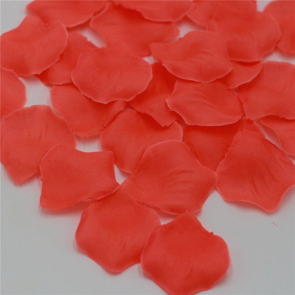 Amazon.com: 1000 Coral Rose Petals Artificial Flower Petals For ...