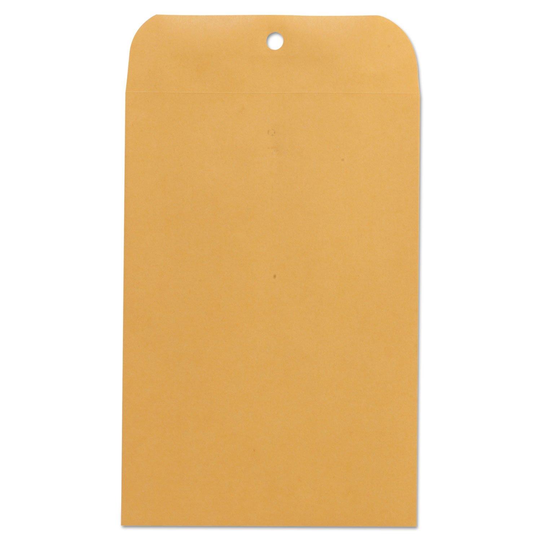 UNV35261 Kraft Clasp Envelope, Side Seam, 28lb, 6 1/2 x 9 1/2, Light Brown, 100/Box by UNV35261 (Image #1)