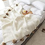 Knit Throw Blanket Handmade Su