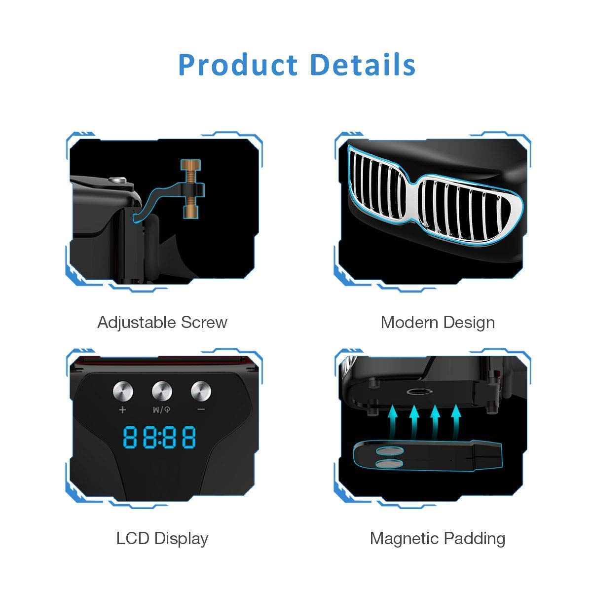 Refrigerador Portátil Ventilador para Ordenador Portátil, ISENPENK Silencioso Base de Refrigeración Portátil con Pantalla LCD, 13 Velocidades Ajustables de ...
