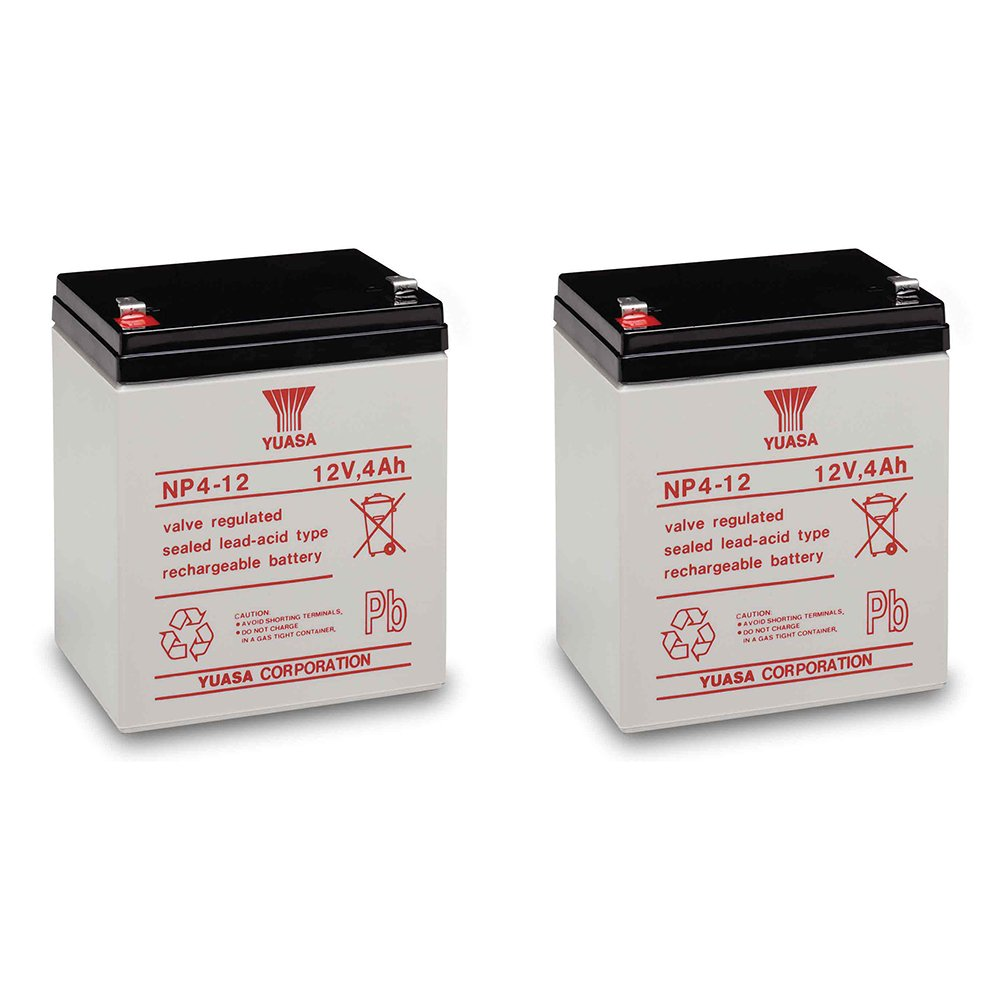 Yuasa NP4-12 Battery 12 Volt 4 Amp Sealed Lead Acid Battery (2)