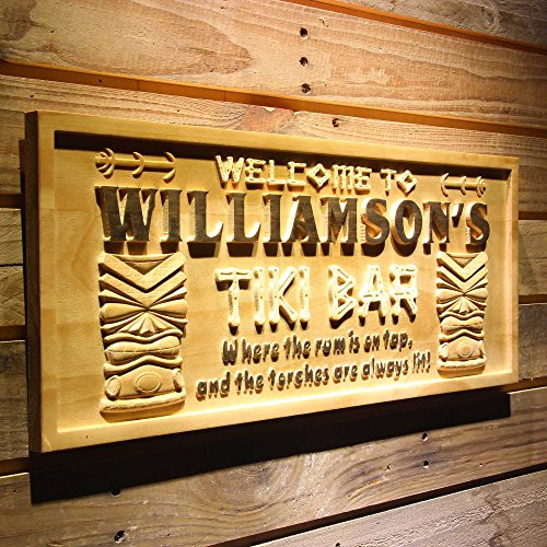 ADVPRO wpa0134 Name Personalized Tiki Bar Mask Beer Wood Engraved Wooden Sign - Large 26.75