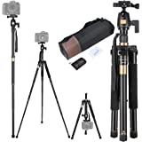 AW Portable Professional Adjustable 60 Inch Camera Tripod Monopod with 360 degree Ball Head for DSLR Camera Travel