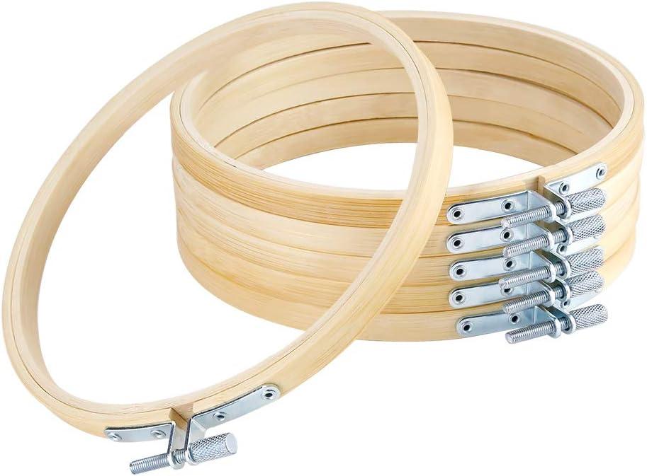 Aros De Bordado (bambu) 6 Unidades, 15cm