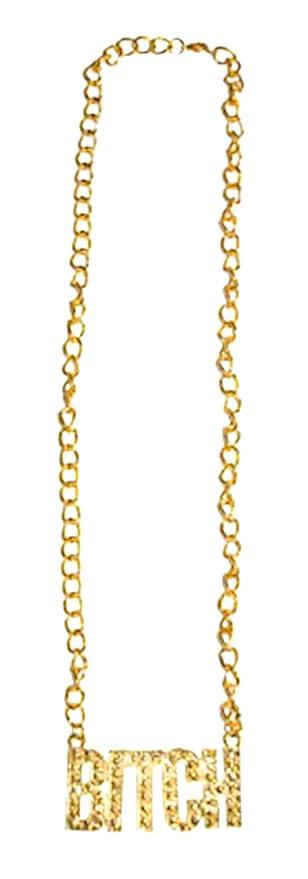 Faschingsfete Kostüm Accessoire 80er 90er Jahre Gold Kette