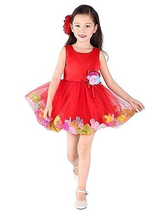 b8f243fb06 Amazon.com  jeansian Girl Kid Wedding Cute Party Dress Shirt Top ...