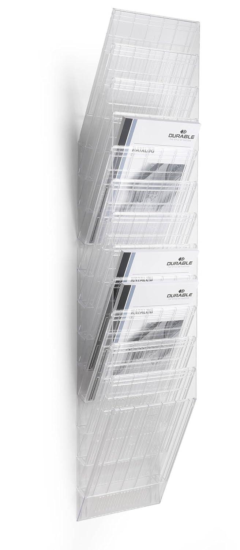 DURABLE - Flexiboxx 6 A4, espositore da parete, f.to A4 verticale, 6 comparti, 240x690x135 mm, nero (cod. #1709760060)