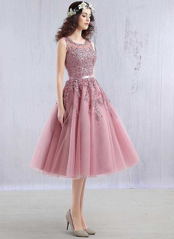 Beauty-Emily Abendkleider Damen Kurz Knielang Elegant Für Hochzeit ...