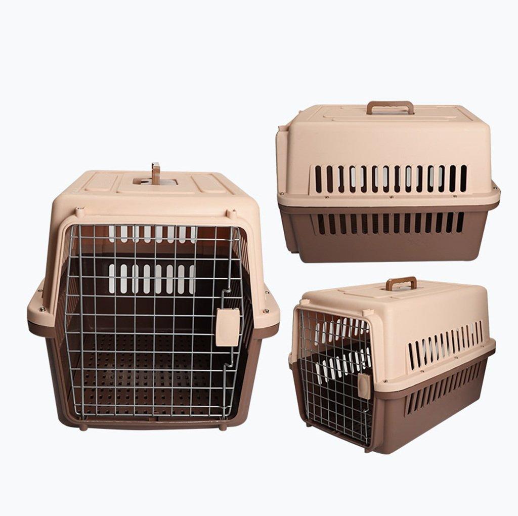 l'intera rete più bassa Love pet Confezione da da da Viaggio per Animali Fuori dalla Scatola d'Aria Gabbia per Gatti Scatola di Trasporto Aereo per Trasporto di Animali Domestici per Cani (colore   Marronee, Dimensioni   L.)  liquidazione fino al 70%