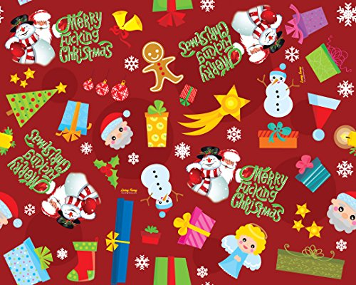Merry Fucking Christmas wrapping paper