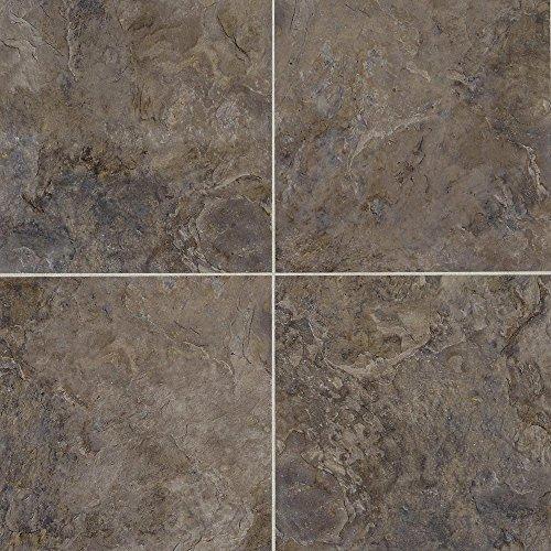 Mannington Tile Floors (Mannington Hardware AT392 Adura Luxury Rushmore Vinyl Tile Flooring, Black Hill)