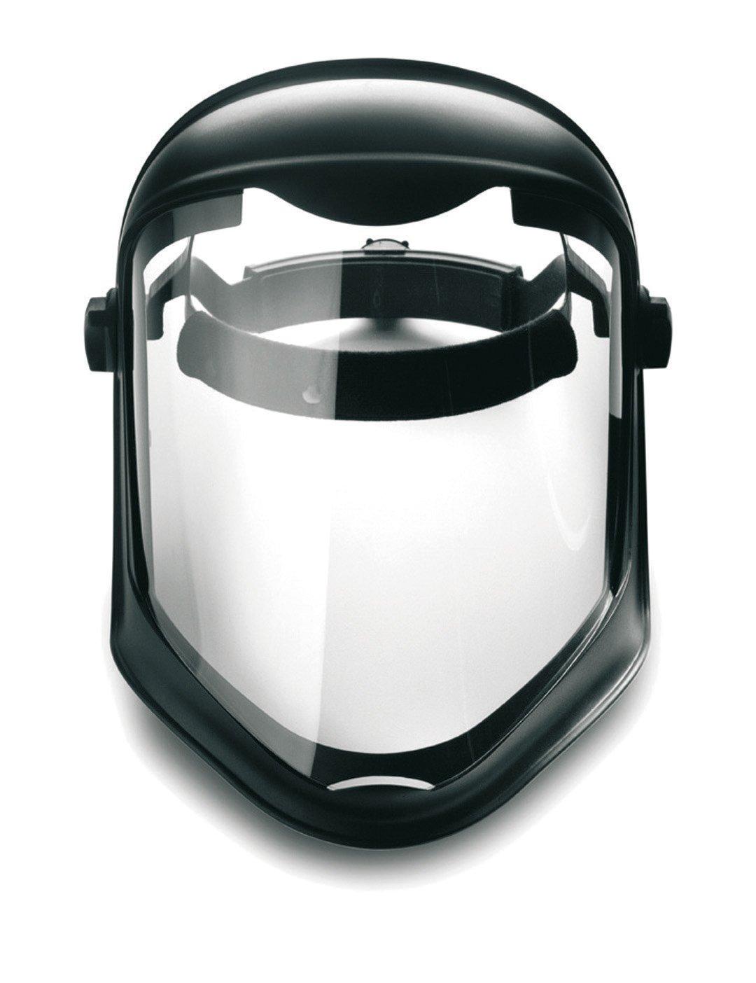 Honeywell 1011623 Escudo facial biocónico con lente transparente de pantalla de policarbonato sin recubrimiento product image
