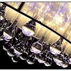 LightInTheBox Modern Romantic K9 Flush Mount in Cylinder Shade, Drum Style Home Ceiling Light Fixture Pendant Light Chandeliers Lighting for Bedroom, Living Room Warm White