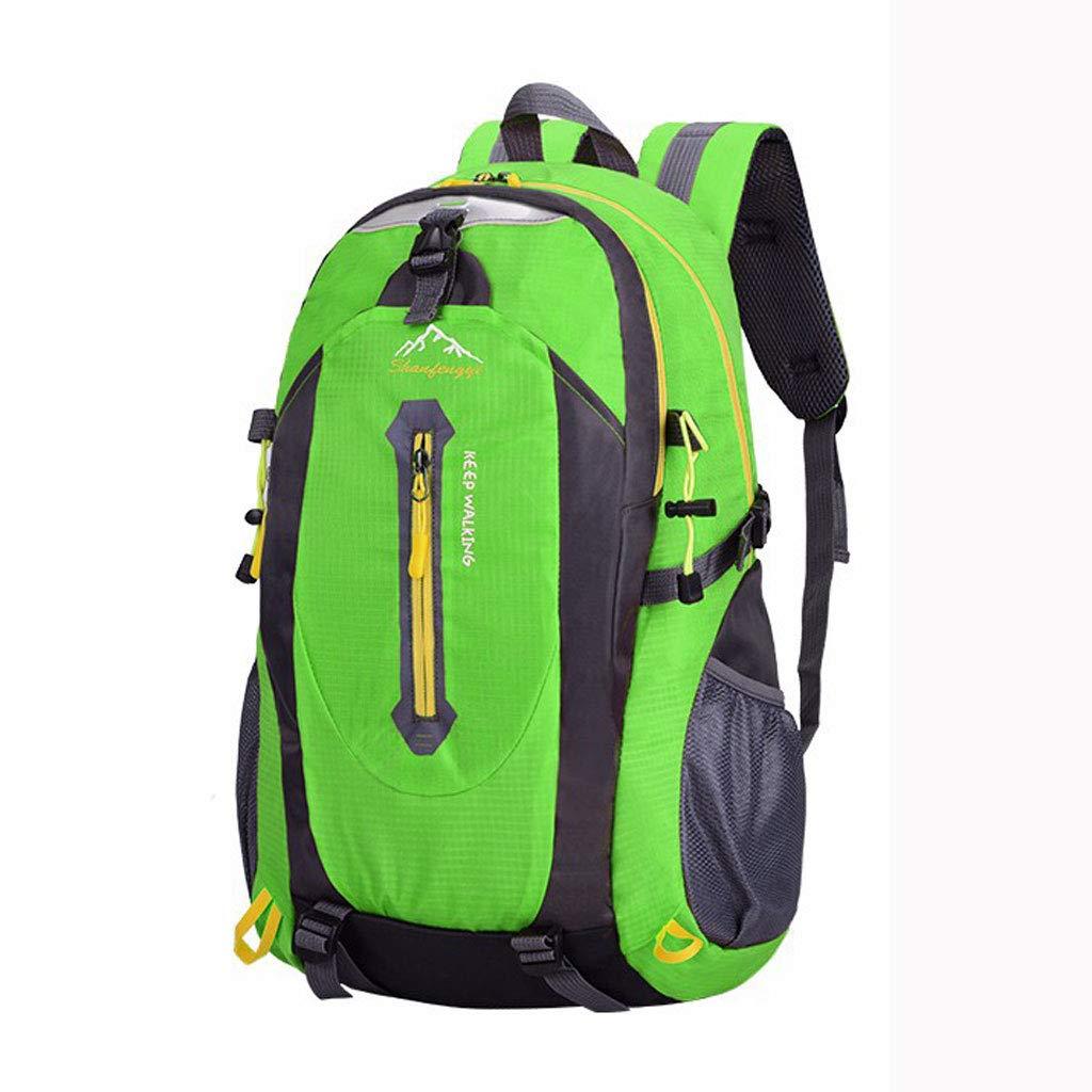 WERT 登山用バッグ 旅行用バックパック アウトドアショルダーバッグ レジャー スポーツバッグ 防水バックパック (色:グリーン) B07HF8ZTWK