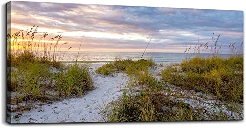canvas wall art for living room bedroom Wall Decor ocean sand dunes grass Landscape painting Ready to Hang Home Decorations office family bathroom kitchen sea beach canvas art Prints pictures Works