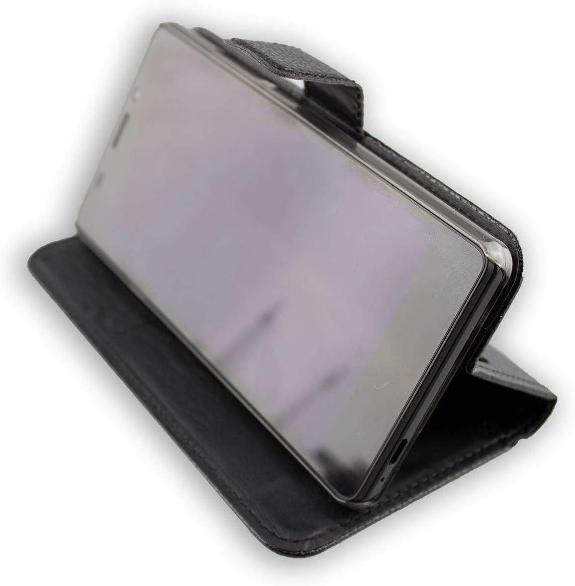 Casco para Vernee Thor E, Bookstyle-Case Funda Protectora a Prueba de Golpes para Smartphone (Carcasa de Color Negro): Amazon.es: Electrónica