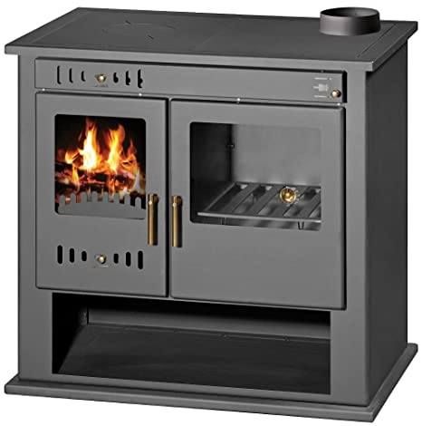 Estufa de leña estufa chimenea para sistema de calefacción central horno cocina combustible sólido 9 KW