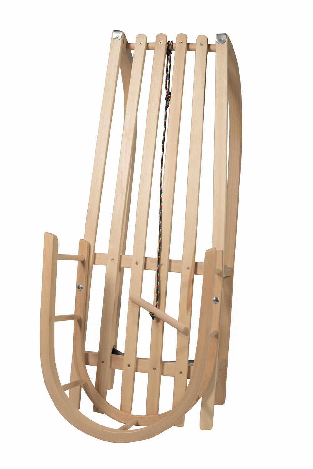 domitp Wooden Sled with Back Support – Sanki Drewniane