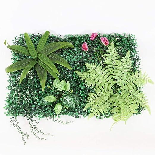 LIMMC Planta de Pared Verde césped Artificial boj seto jardín ...