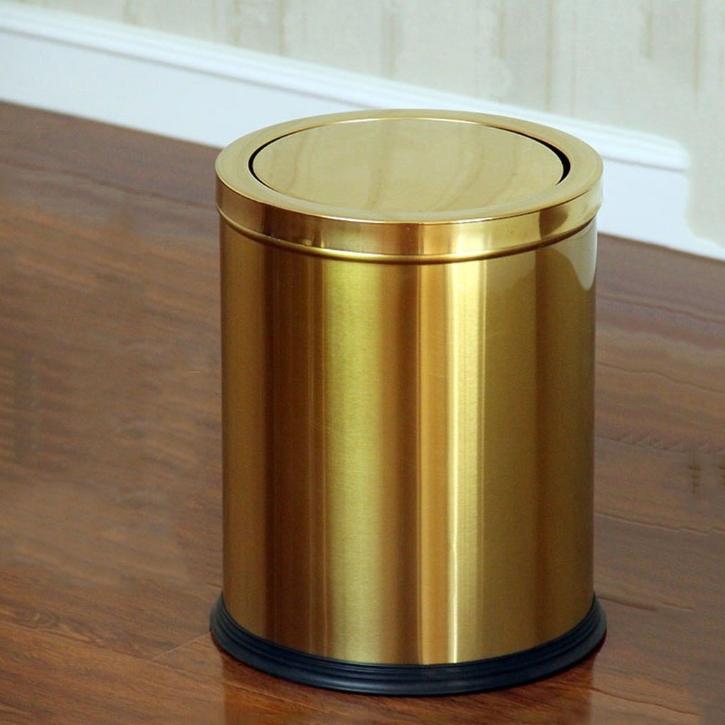 Ali Stainless Steel Shaking Household Kitchen Toilet Toilet Trash ( Color : Gold ) Ali Lamps