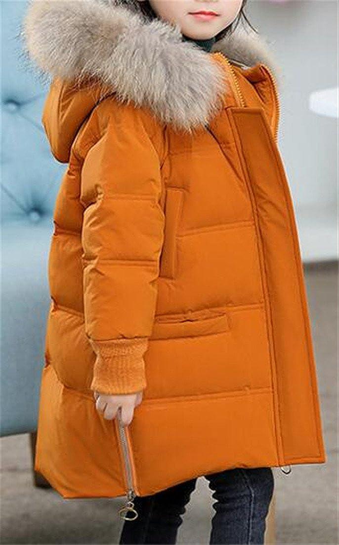 Sweatwater Girls Winter Faux Fur Hood Puffer Down Outwear Jackets Coats