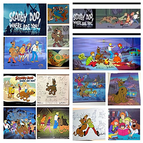 Hanna Barbera Signed Cel set of 14 SCOOBY DOO Rare Animation Art Edition cells - Hanna Barbera Animation Art