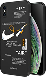 Auralto Slim Fit Silicone Case for iPhone XR, Silicone Gel Rubber Full Body Protective Drop Protection Cover Cool Cartoon Graphics Bumper Cases - Black