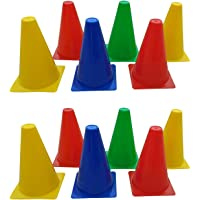 """PS Pilot Training & Playing Field Equipment 9"""" Inch Cone Markers Pack of 12"""