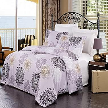 Fifi 3PC printed Duvet cover Set. 100% Microfiber (King/Calking)